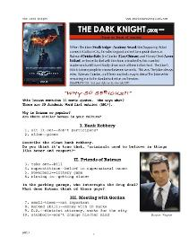 DARK KNIGHT, Whole-Movie English (ESL) Lesson | eBooks | Education