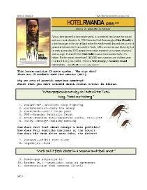 HOTEL RWANDA, Whole-Movie English (ESL) Lesson | eBooks | Education