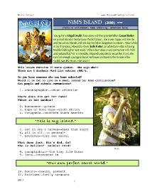 NIM'S ISLAND, Whole-Movie English (ESL) Lesson | eBooks | Education