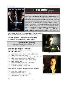 THE PRESTIGE, Whole-Movie English (ESL) Lesson | eBooks | Education