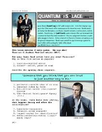 QUANTUM OF SOLACE, Whole-Movie English (ESL) Lesson | eBooks | Education
