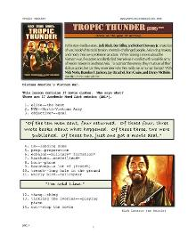 TROPIC THUNDER, Whole-Movie English (ESL) Lesson | eBooks | Education