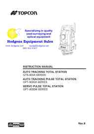 Topcon GPT-9000A Instruction Manual and Specs   Documents and Forms   Manuals