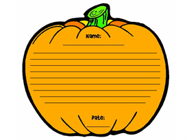 Pumpkin Patch Stationery Set | Documents and Forms | Other Forms