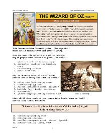 THE WIZARD OF OZ, Whole-Movie English (ESL) Lesson | eBooks | Education