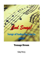 teenage dream - katy perry lyrics score & chords, keyboard / instrument notation