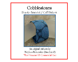 cobblestones - peyote bracelet / cuff pattern (for personal use only)