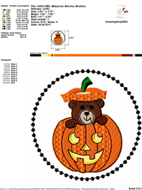 Halloween Embroidery Design | Other Files | Arts and Crafts