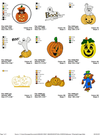 Halloween Embroidery Designs | Other Files | Arts and Crafts