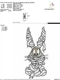 Looney Tunes Halloween Embroidery Design | Other Files | Arts and Crafts