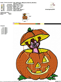 Mickey Halloween Embroidery Design | Other Files | Arts and Crafts