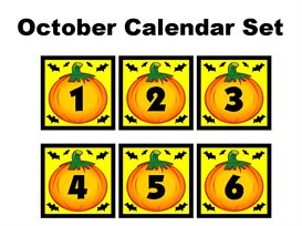 October Calendar Set | Documents and Forms | Other Forms