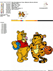 Pooh Halloween Embroidery Design | Other Files | Arts and Crafts
