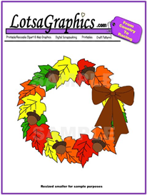 fall wreath clipart download