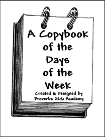 A Copybook of the Days of the Week | eBooks | Education