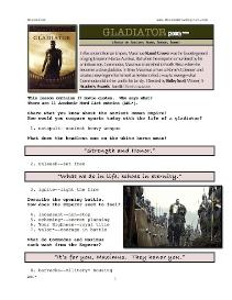 GLADIATOR,  Whole-Movie English (ESL) Lesson | eBooks | Education