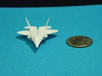 Second Additional product image for - Origami Dollar F-22 w/ Landing Gears Tutorial Video
