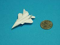 Third Additional product image for - Origami Dollar F-22 w/ Landing Gears Tutorial Video