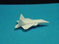 Fourth Additional product image for - Origami Dollar F-22 w/ Landing Gears Tutorial Video