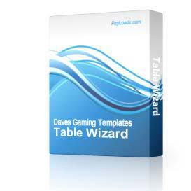 Table Wizard | Software | Utilities