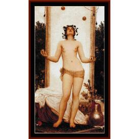 Antique Juggling Girl - Leighton cross stitch pattern by Cross Stitch Collectibles | Crafting | Cross-Stitch | Wall Hangings
