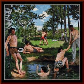The Bathers - Bazille cross stitch pattern by Cross Stitch Collectibles | Crafting | Cross-Stitch | Wall Hangings