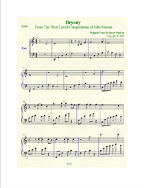 bryony sheet music in c major
