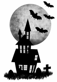 haunted house digital stamp set