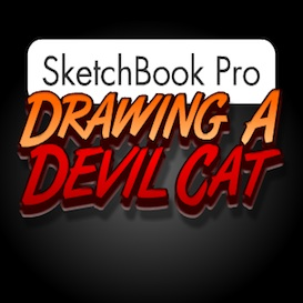 Sketchbook Pro - Drawing a Devil Cat | Movies and Videos | Educational