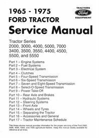 Ford 2000 3000 4000 5000 7000 Tractor Workshop Manual | eBooks | Automotive