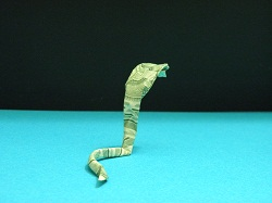 First Additional product image for - Origami Dollar Cobra Tutorial Video
