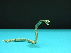 Second Additional product image for - Origami Dollar Cobra Tutorial Video