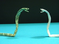 Third Additional product image for - Origami Dollar Cobra Tutorial Video