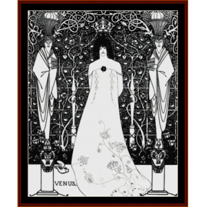 Venus Between Terminal Gods - Beardsley cross stitch pattern by Cross Stitch Collectibles | Crafting | Cross-Stitch | Wall Hangings