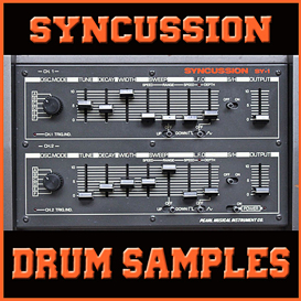 pearl SYNCUSSION sy1 sy-1 analog drum synthesizer 24 bit vintage electro sample | Music | Soundbanks