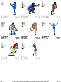 Sport 2 Embroidery Designs | Crafting | Sewing | Other