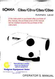 Sokkia C30 Series Automatic Level Operator Manual   Documents and Forms   Manuals