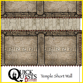 quick quests temple wall set 3d dungeon tiles and maps for dungeons and dragons, d&d, gurps, and other rpg