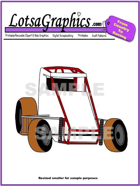 free sprint car clip art - photo #15