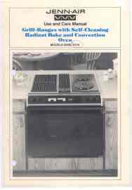 Jennair S156 S176 Oven Use and Care Manual. | Documents and Forms | Manuals
