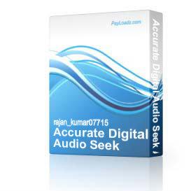 accurate digital audio seek assistant