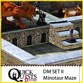 Dungeon Masters Set II - Minotaur Maze, for Dungeons and Dragons, D&D, Gurps, Warhammer, or other RPG Role Playing Games | Crafting | Paper Crafting | Other