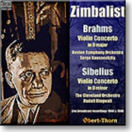 ZIMBALIST plays Brahms and Sibelius Concertos, mono MP3 | Music | Classical