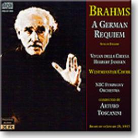BRAHMS German Requiem, Toscanini, 16-bit mono FLAC | Music | Classical