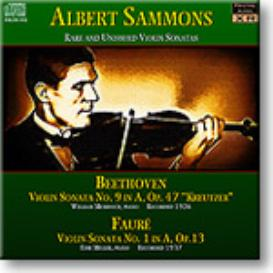 SAMMONS Rare and Unissued Violin Sonatas, Ambient Stereo FLAC | Music | Classical