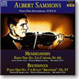 SAMMONS Piano Trio Recordings, 1925/6, mono MP3 | Music | Classical