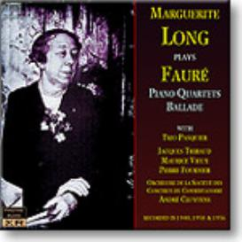 FAURE Piano Quartets, Ballade, Marguerite Long, mono FLAC | Music | Classical