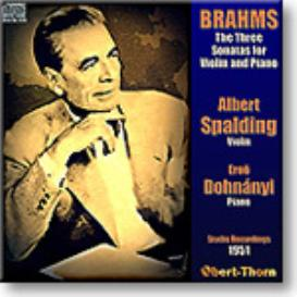 SPALDING AND DOHNANYI Brahms Violin Sonatas, 16-bit Ambient Stereo FLAC | Music | Classical