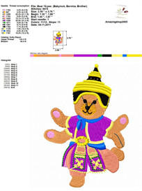 Teddy Bear Embroidery Design | Crafting | Sewing | Other