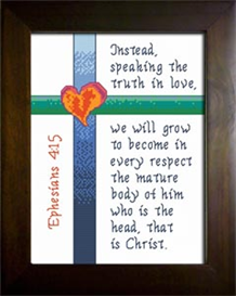 Truth in Love | Crafting | Cross-Stitch | Religious